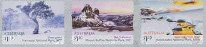 AUS 21/07/2020 Australian Alps self-adhesive set of 3 from roll